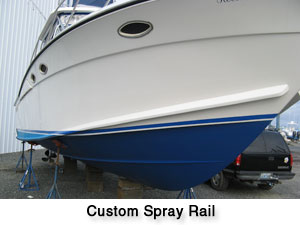 Oceana Boatworks - Starboard Side Custom Spray Rail