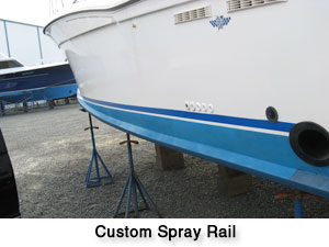 Oceana Boatworks - Port Side Custom Spray Rail