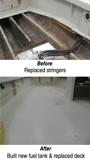 how to clean a fiberglass boat deck